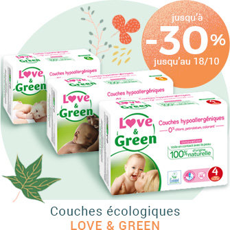 -30% sur les couches Love and Green