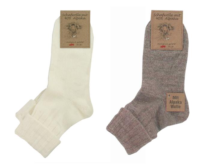 chaussettes fines laine et alpaga femme ecru marron saling. Black Bedroom Furniture Sets. Home Design Ideas
