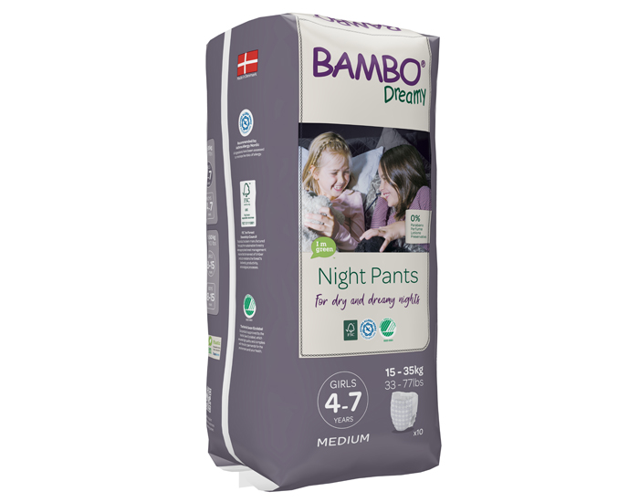 BAMBO NATURE Couches de Nuit Dreamy 4-7 ans - 15-35 kg Girls