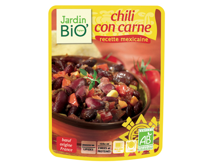 Menu express chili con carne jardin bio for Au jardin singapore menu