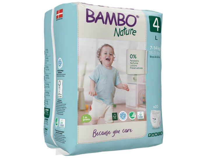 BAMBO NATURE Culottes d'Apprentissage Jetables