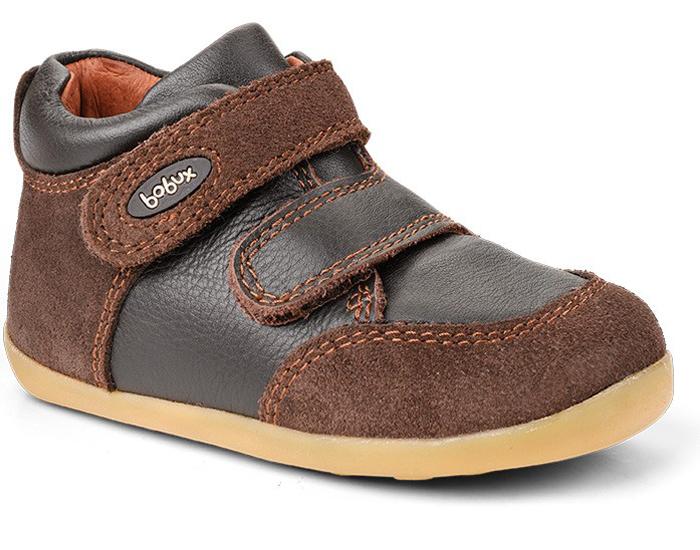 bf850dd609994 Chaussures Souples Bébé BOBUX Step Up Caoutchouc Chocolat