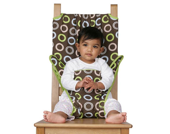 chaise de voyage bb chocolat cercles totseat. Black Bedroom Furniture Sets. Home Design Ideas