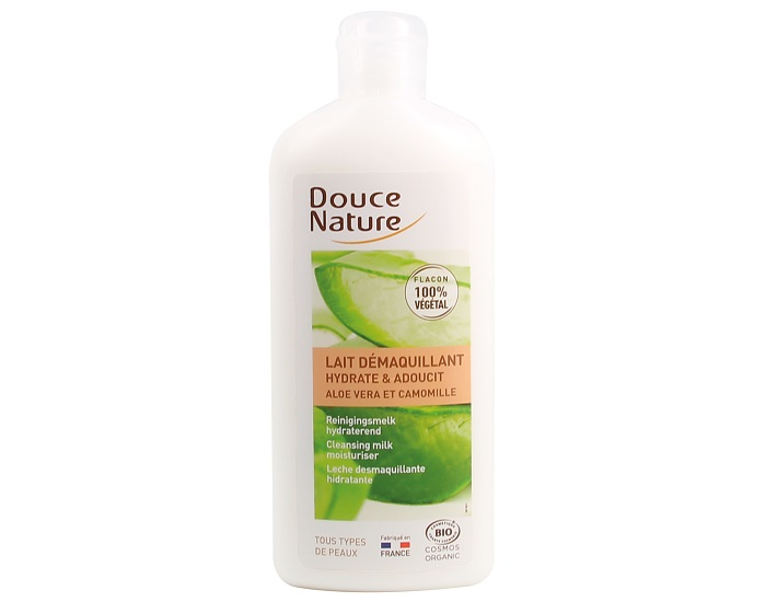 DOUCE NATURE Lait Démaquillant Hydratant Aloe Vera - 250 ml