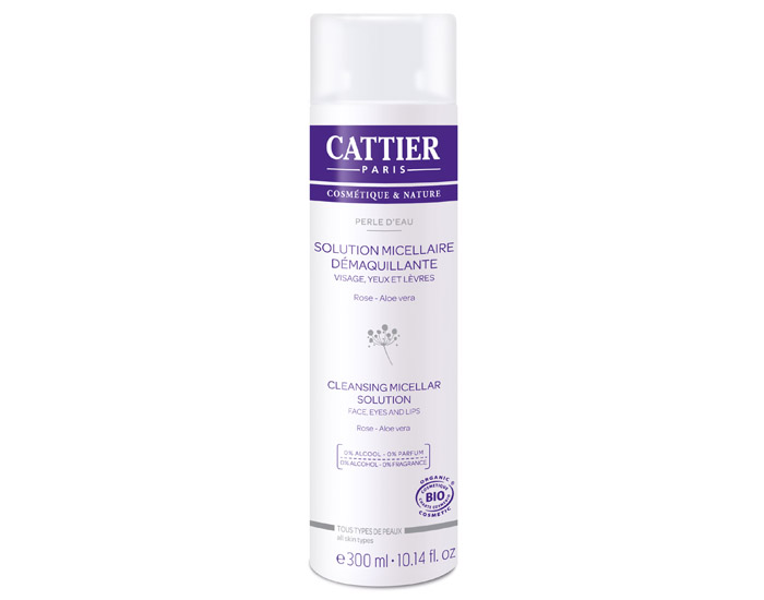 CATTIER Solution Micellaire Démaquillante - Perle d'eau - 300 ml