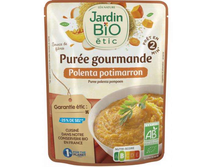 Plat prpar bio sans gluten polenta potimarron jardin bio for Au jardin des sans pourquoi translation