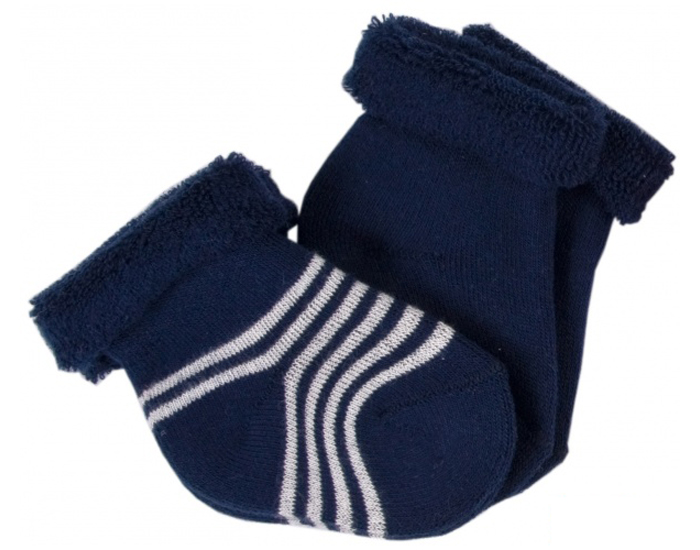 lot de 2 paires de chaussettes bb bleu marine ray blanc naissance iobio. Black Bedroom Furniture Sets. Home Design Ideas