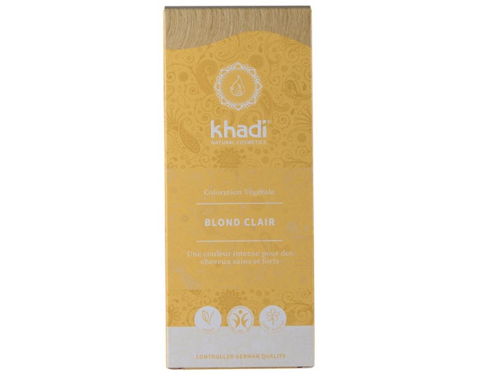 KHADI Coloration Naturelle Aux Plantes - Blond Clair - 100g