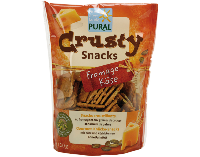 PURAL Crusty Snacks Fromage Graines de Courge - 110 g