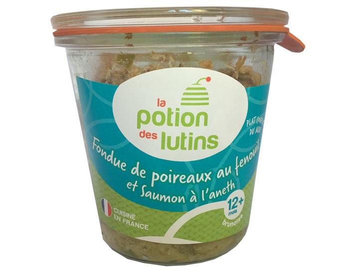 petits pots fondue de poireau et fenouil au saumon la potion des lutins