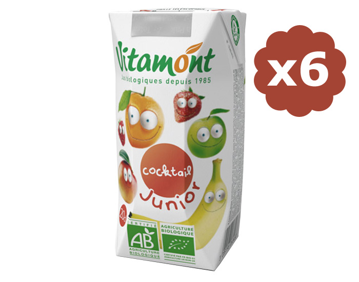 VITAMONT Cocktail Junior Bio - 6 x 20 cl