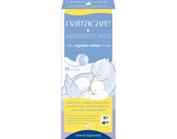NATRACARE Pack Serviettes Hygiéniques Post Partum 4 x 10 serviettes