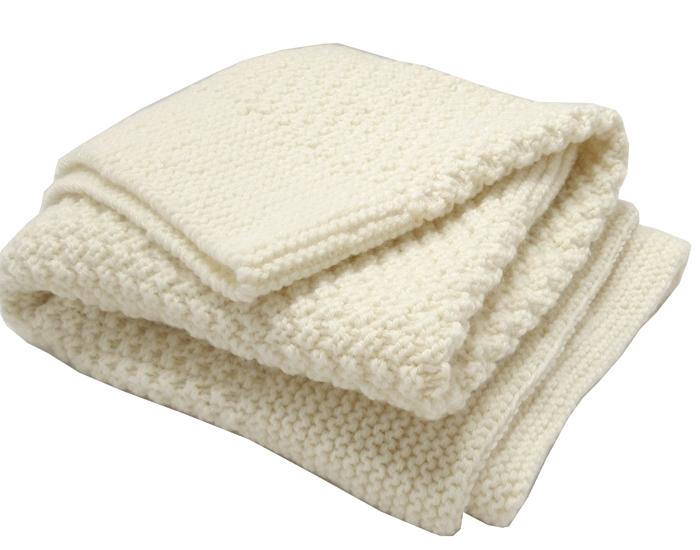 couverture bb en laine mrinos tricot main 60 x 90 cm tidoobio. Black Bedroom Furniture Sets. Home Design Ideas