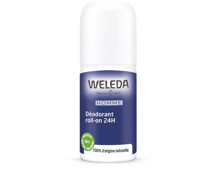 WELEDA Déodorant Roll-On 24H - Homme - 50 ml
