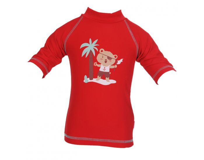 PIWAPEE Top Lycra Anti UV UPF50+ Rouge Ourson 3-6M