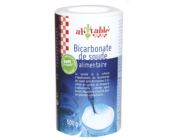 AH TABLE Bicarbonate de Soude Alimentaire - Tube de 500g