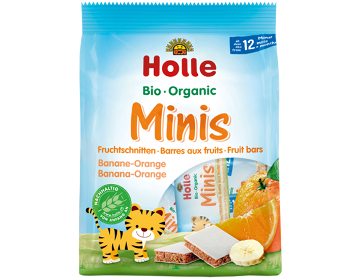 HOLLE Minis Barres aux Fruits - Banane Orange - Dès 12 mois - 100 g