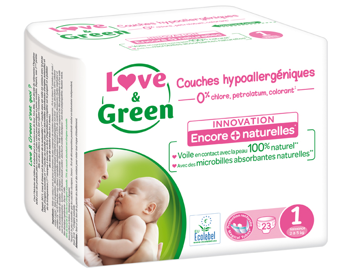 LOVE & GREEN Pack x6 Couches Écologiques 0%