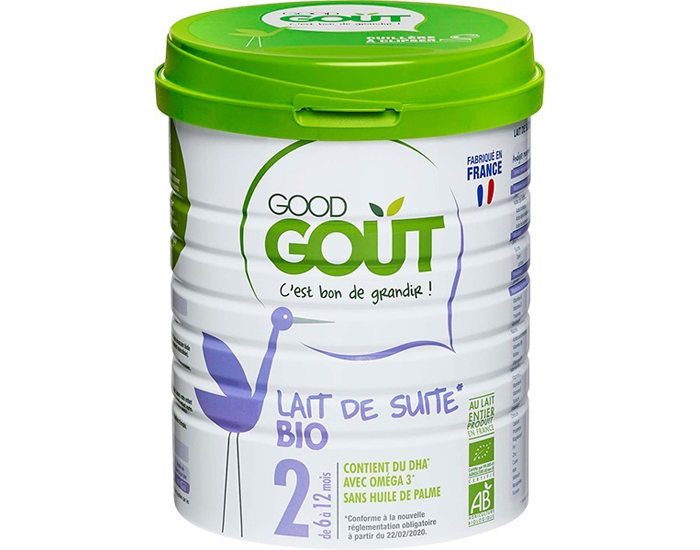 GOOD GOUT Lait de Suite 2 - 6 à 12 mois - 800g