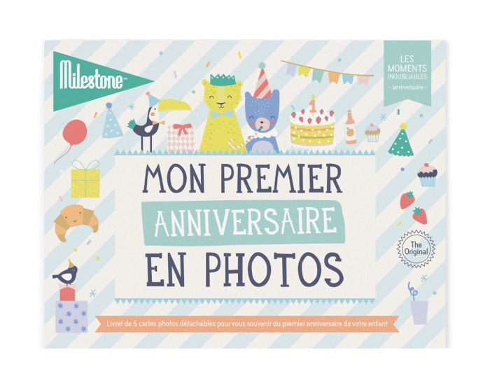 MILESTONE Cartes photos Mon Premier anniversaire en Photos