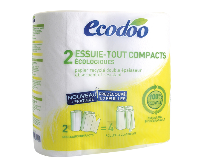 ECODOO Essuie-tout compact recyclé
