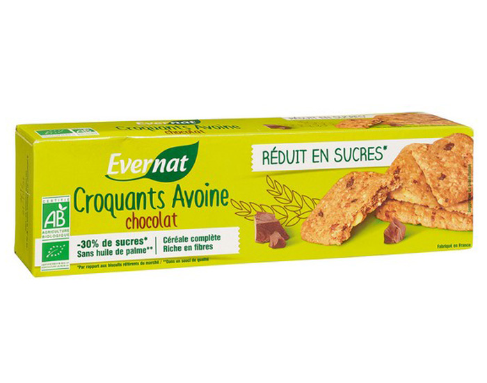 EVERNAT Croquants Avoine Chocolat - 130g