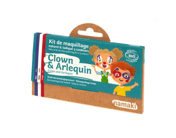NAMAKI Kit de Maquillage 3 Couleurs Clown et Arlequin