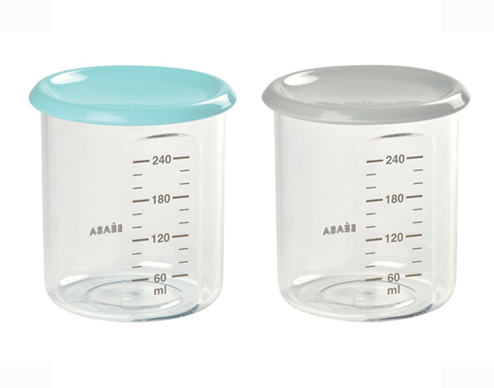 BEABA Lot de 2 Pots de Conservation Maxi Portion - 240 ml