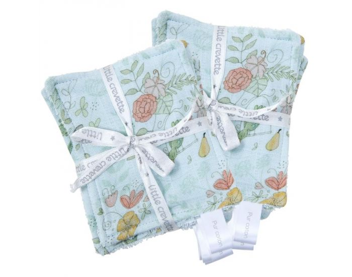 LITTLE CREVETTE Lot de 12 Lingettes Lavables Bébé