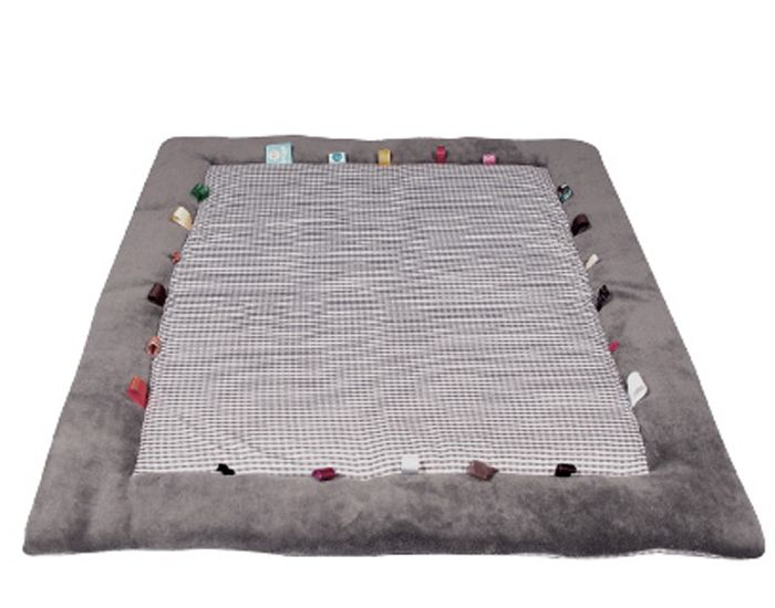 snoozebaby tapis de jeu et d 39 veil hippo grey gris. Black Bedroom Furniture Sets. Home Design Ideas