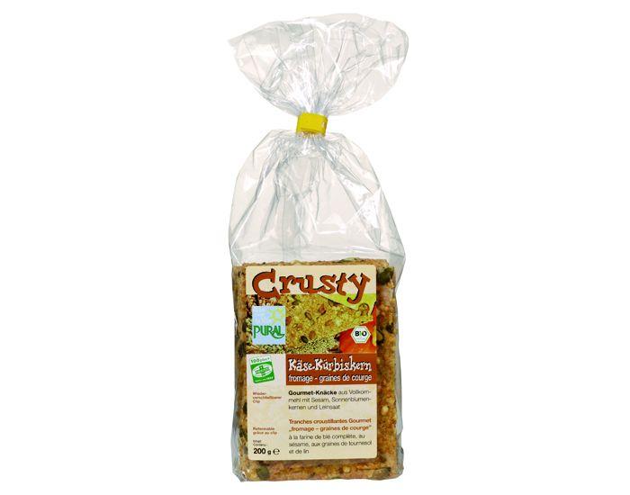 Pural Crusty Biscuits Apéritifs au Fromage et Graines de Courge Bio 200g