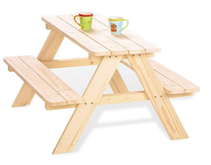 pinolino table de jardin pour 4 enfants ds 2 ans. Black Bedroom Furniture Sets. Home Design Ideas