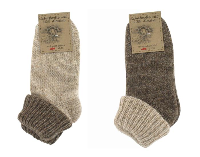 chaussettes laine et alpaga femme marron saling. Black Bedroom Furniture Sets. Home Design Ideas