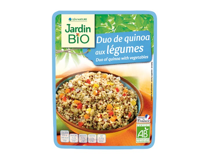 Menu express duo de quinoa aux lgumes jardin bio for Au jardin singapore menu
