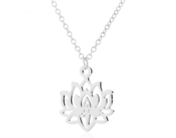 THE GOOD KARMA SHOP Collier Fleur de Lotus Sacré Argent Argent