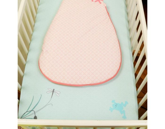 LITTLE CREVETTE Drap-housse Flamant rose 70 x 140 cm (1)