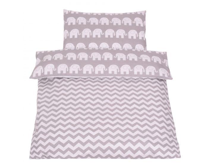48e69e2477d97 SEVIRA KIDS Tour de lit à coussins modulables avec parure réversible -  Eléphants - Gris Miel