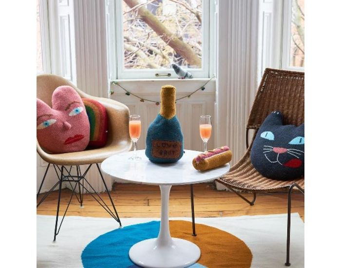 OEUF NYC Coussin chat en alpaga (4)