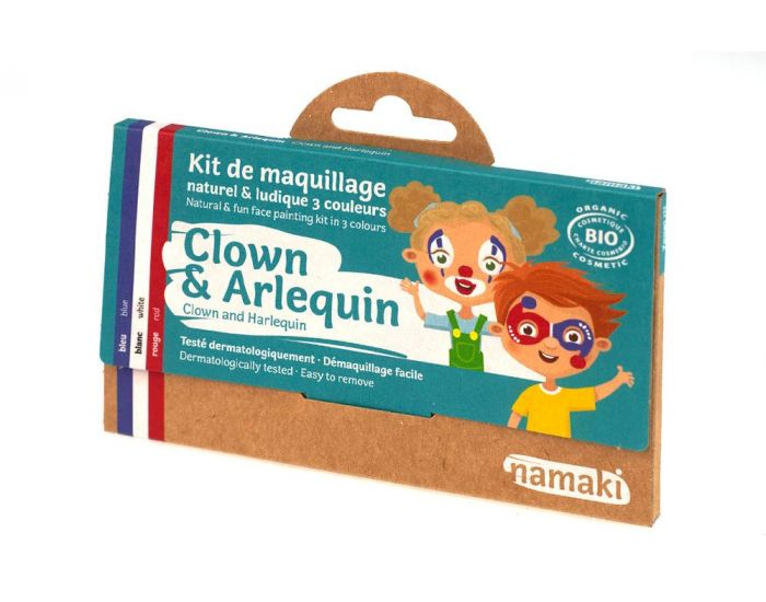 NAMAKI Kit de Maquillage 3 Couleurs Clown et Arlequin (4)