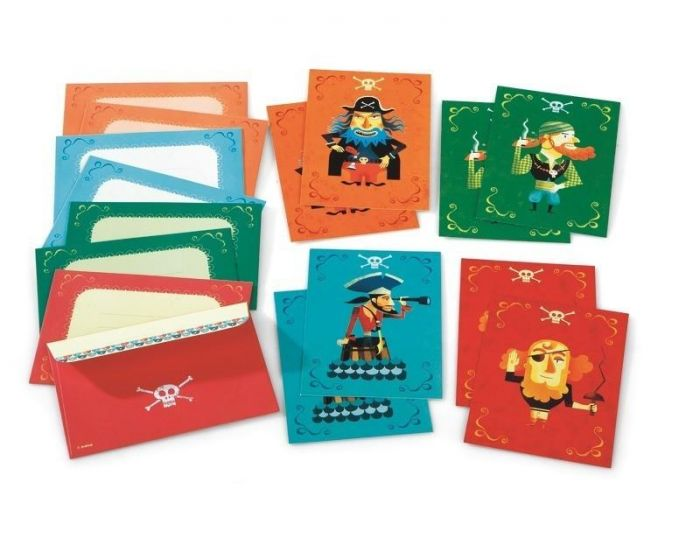 DJECO Cartes d'invitation des pirates (1)