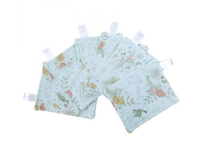 LITTLE CREVETTE Lot de 12 Lingettes Lavables Bébé (2)
