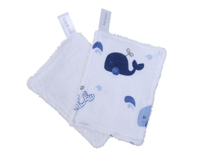 LITTLE CREVETTE Lot de 12 Lingettes Lavables Bébé (11)