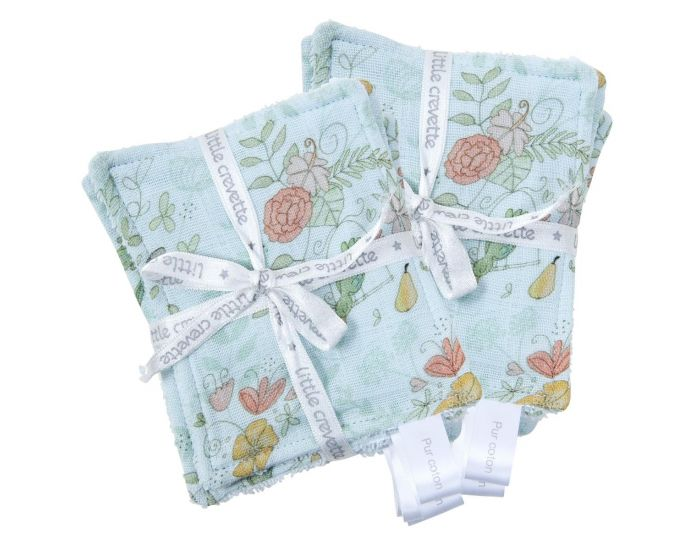 LITTLE CREVETTE Lot de 12 Lingettes Lavables Bébé (4)
