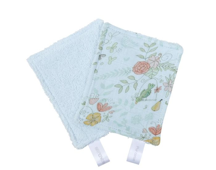 LITTLE CREVETTE Lot de 12 Lingettes Lavables Bébé (5)