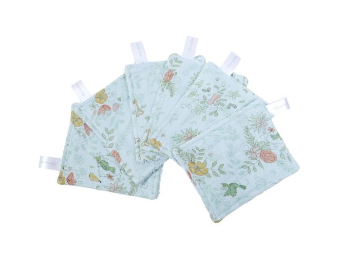 LITTLE CREVETTE Lot de 12 Lingettes Lavables Bébé (6)
