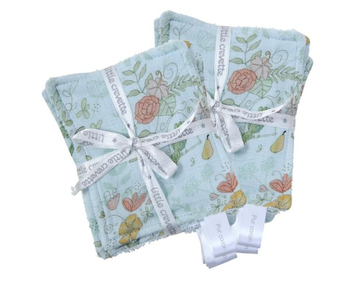 LITTLE CREVETTE Lot de 12 Lingettes Lavables Bébé (8)