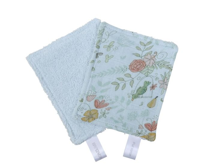 LITTLE CREVETTE Lot de 12 Lingettes Lavables Bébé (9)