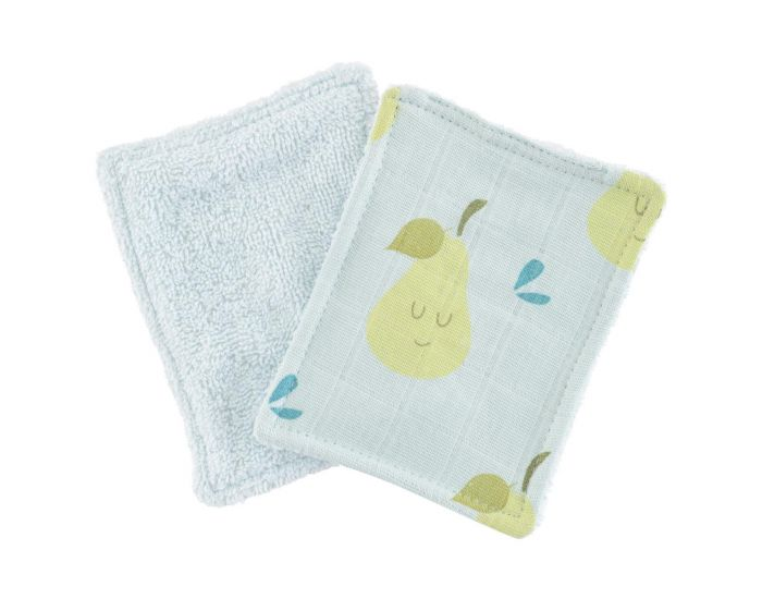 LITTLE CREVETTE Lot de 6 Lingettes Lavables Bébé (1)