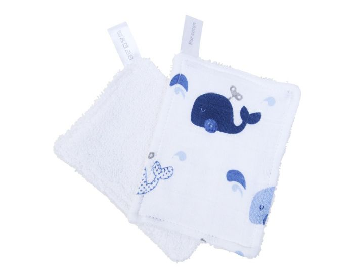 LITTLE CREVETTE Lot de 6 Lingettes Lavables Bébé (4)