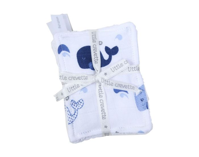 LITTLE CREVETTE Lot de 6 Lingettes Lavables Bébé (9)
